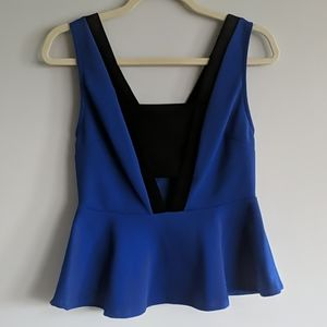 Charlotte Russe Clenched Waist Tank Top